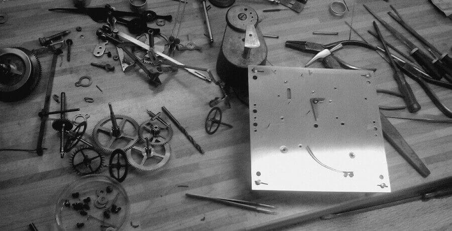Uhrmacher Werktisch